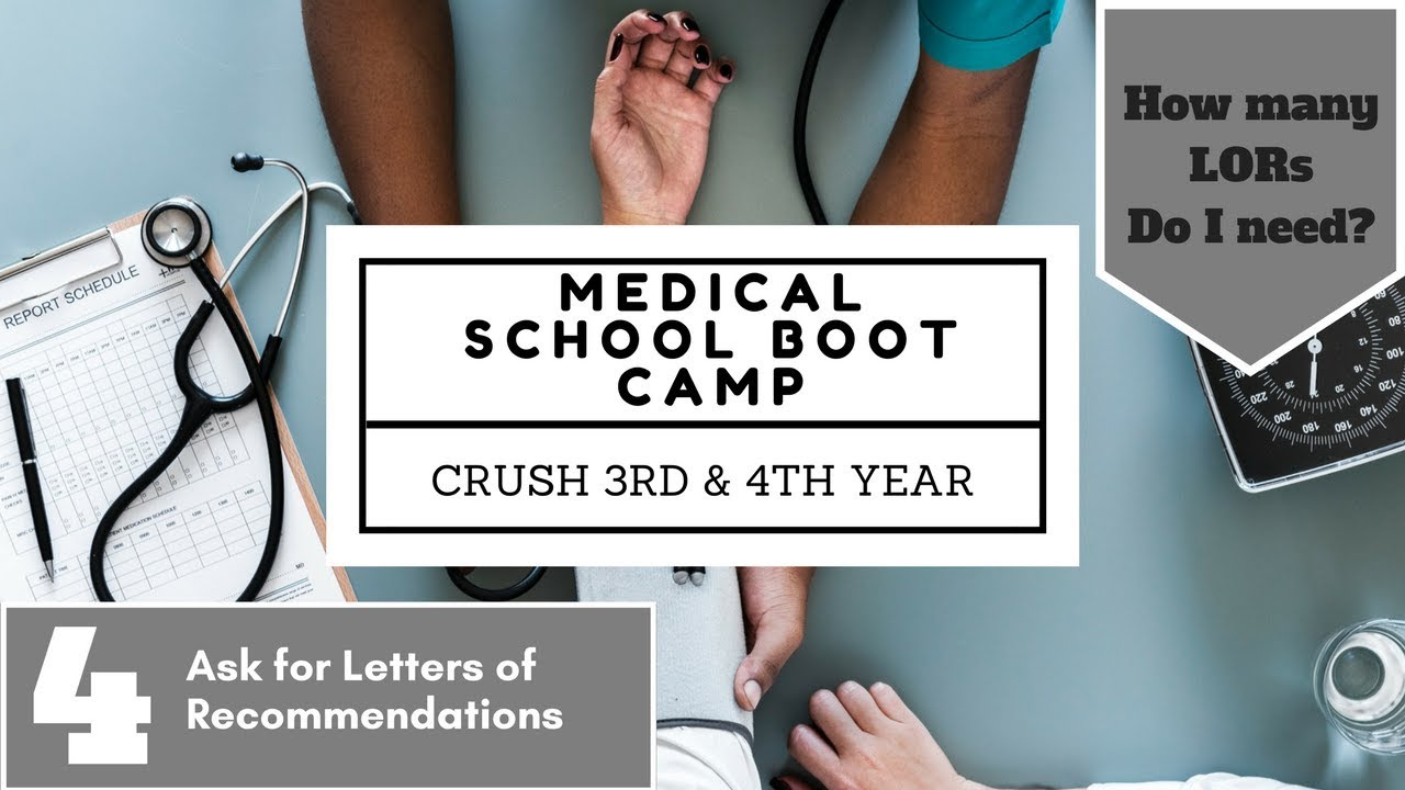 letters of recommendation for residency medical school boot camp
