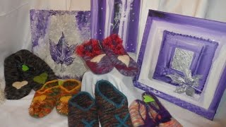 DIY # Hausschuhe Pantoffeln stricken ,filzen ,verfilzen-EASY(100% FILZWOLLE ! ) Größe 38-40 Part 1
