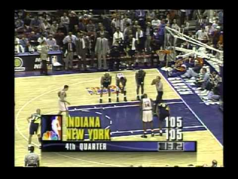 NBA Playoffs 1995: Knicks vs Pacers. Game 1. Final moments