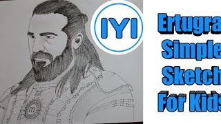 Ertugral simple sketch for kids | Engin Altan Düzyatan