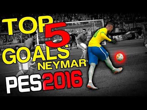 PES 2015/6 - TOP 5 GOALS NEYMAR! =D