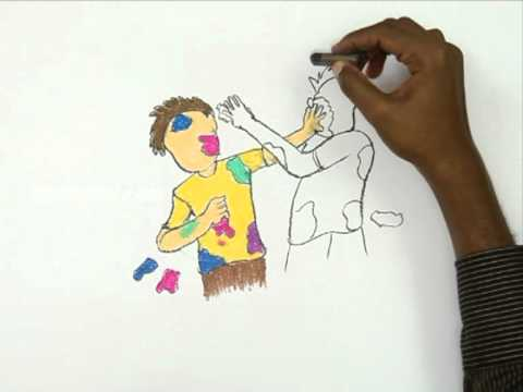How To Draw Holi Day - YouTube