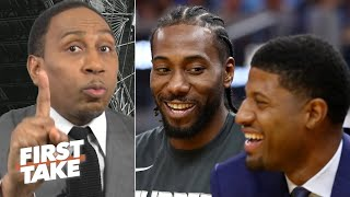 Download Stephen A. is holding off on crowning Kawhi-Paul George as the best NBA duo   First Take Mp3 and Videos