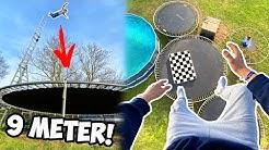 Wir springen aus 9 METERN auf unser TRAMPOLIN! (Neuer Rekord!)