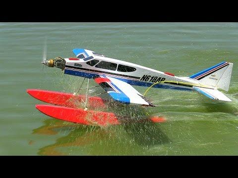 "David flies his modified Hobbico ""Twinstar"" float plane - May 22, 2015"