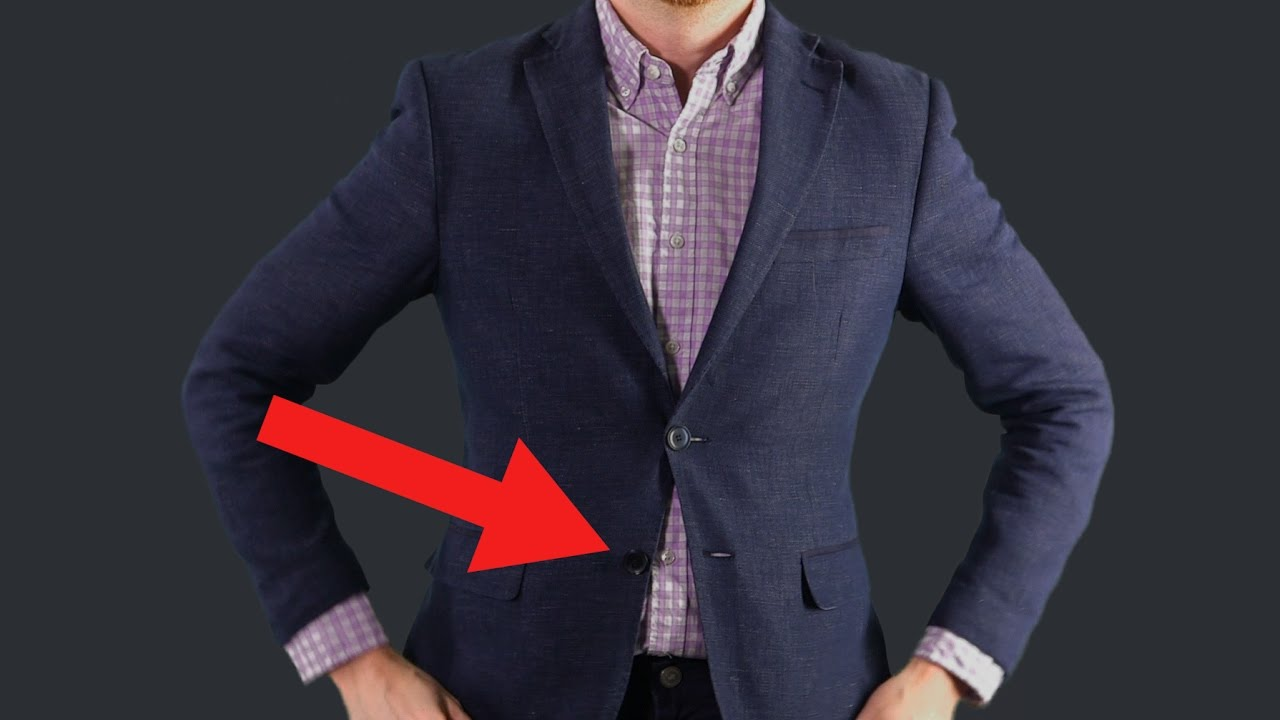Why do not you need to button the bottom button of the jacket 98