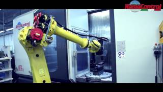 Centro de mecanizado REMA CONTROL de 5 ejes con robot Fanuc