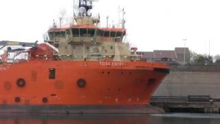 Offshore Vessels at Sunderland Toisa Explorer and Toisa Envoy 20th May 2015