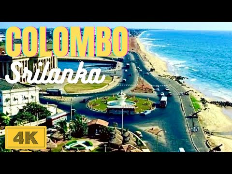 Galle Face Beautiful Beach Colombo Srilanka in 4K