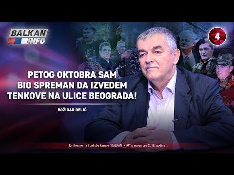 INTERVJU: General Božidar Delić - Petog oktobra sam bio spreman da izvedem tenkove! (14.11.2018)