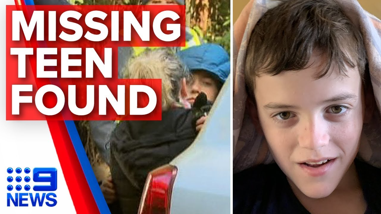 Missing autistic teen William Callaghan found safe and alive   Nine News Australia