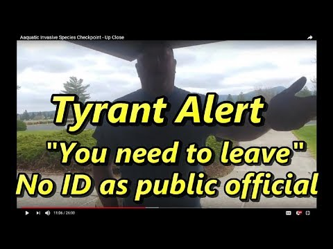 WA Dept Fish & Wildlife - Tyrant Alert! Will Not ID Tells Me To Leave.