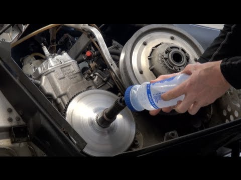 Snowmobile clutch removal, water method - very easy! PowerModz
