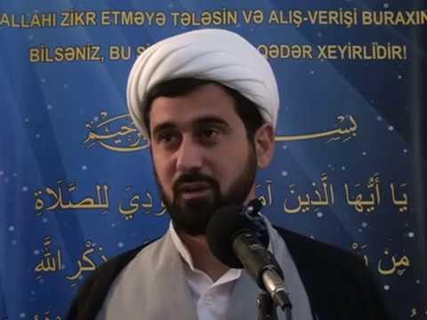 Hacı Rza Cumə xutbəsi 16.03.2018