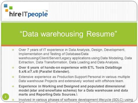 Data Warehousing Resumes
