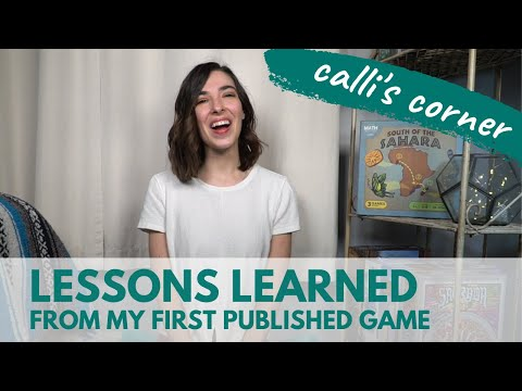 Lessons from Publishing a Board Game | Calli's Corner