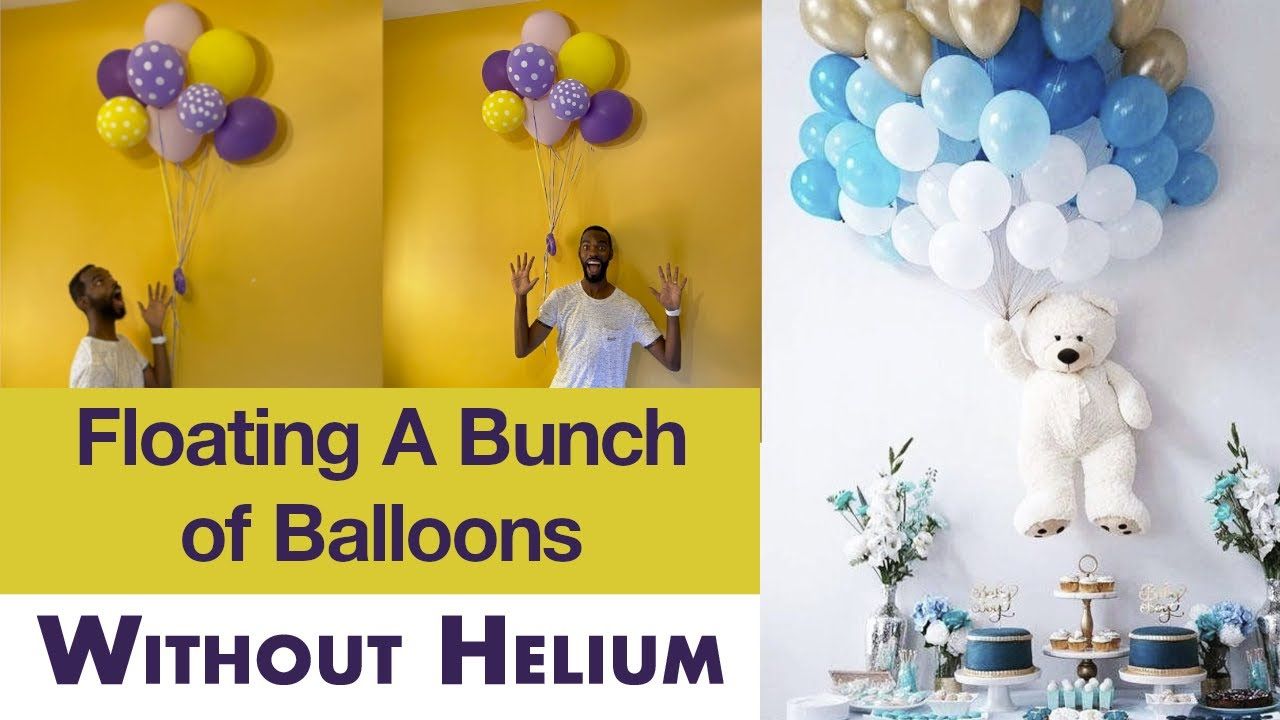 Floating bunch of balloons without Helium decoration idea ...