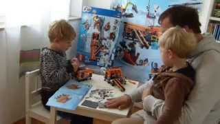 lego city arctic base camp 60036 time lapse father son build