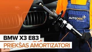 Kā nomainīt BMW X3 E83 Priekšas amortizatori [PAMĀCĪBA]