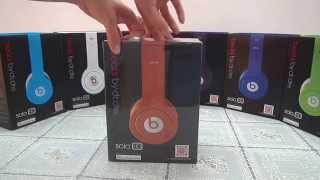 Replica Monster Beats By Dr Dre Orange Solo HD Headphone Unboxing