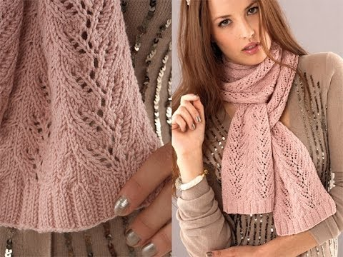 24 Vine Lace Scarf Vogue Knitting Holiday 2010 Youtube