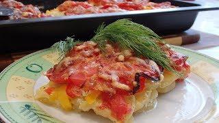Овощная запеканка с кабачками и сыром. Красиво, вкусно и полезно.