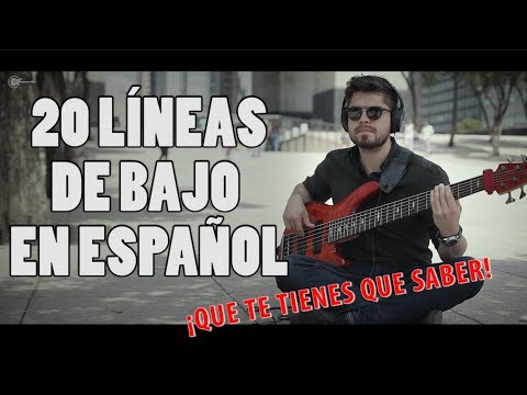 Las 20 MEJORES LÍNEAS DE BAJO de la MÚSICA EN ESPAÑOL