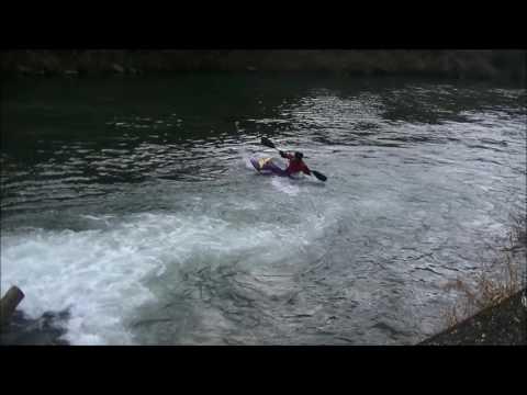 2017 1 27 HIROSHIMA stil water freestyle kayaking
