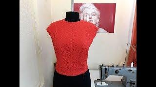 Обработка вытачек в кружевном платье