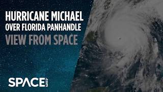 Hurricane Michael Over Florida Panhandle - View From Space