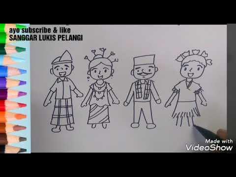 Menggambar Dengan Tema Merayakan Hari Kartini Dengan Pakaian Adat