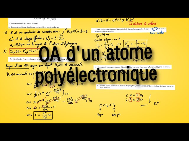OA d'un atome polyélectronique