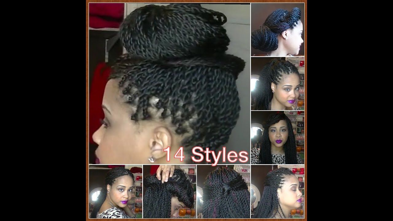 Hairstyle How To : How To Style Your Senegalese Twists, Box Braids, Locks 14 Quick ...