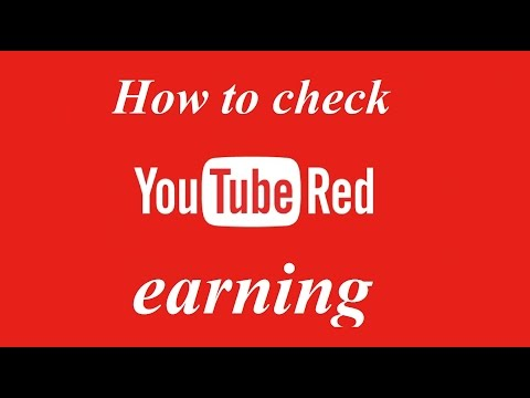 How to check YouTube red earning in youtube analytics
