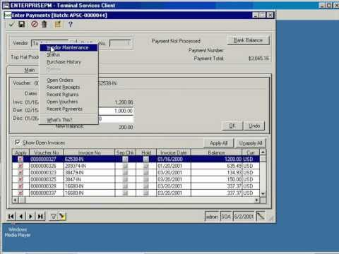 account payable module for sage mas 500 demo youtube rh youtube com sage 500 erp user manual Sage 100