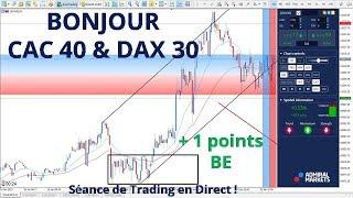 #DAX30 CFD - Séance de Trading en Direct - Bonjour CAC40 & DAX30 le 18/01