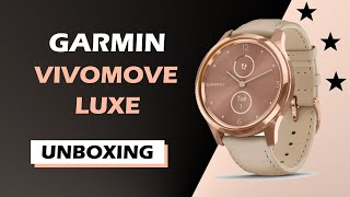 Garmin Vivomove Luxe 18K Rose Gold Unboxing HD (010-02241-21)
