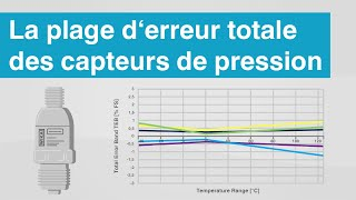 Quelle est la plage d'erreur totale des capteurs de pression? | Conditions de...