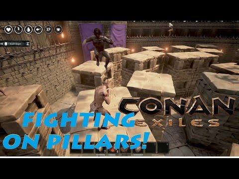 Gladiator Arena: Fighting on Pillars! - Conan Exiles |