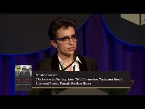 Masha Gessen accepts the 2017 National Book Award for Nonfiction (full speech)