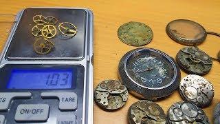 Сколько стоят старые позолоченные механические часы.