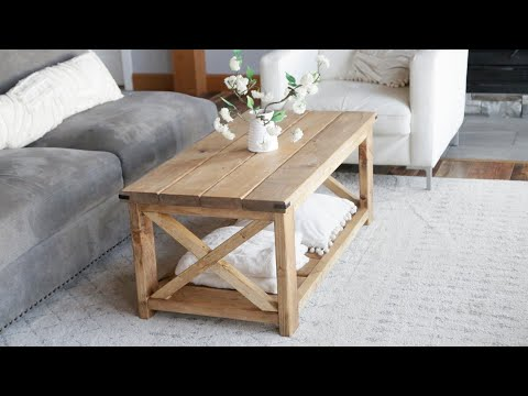 $40 Farmhouse Coffee Table – Easy to Build #anawhite