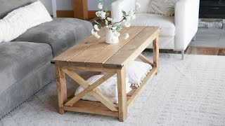 $40 Farmhouse Coffee Table   Easy To Build #anawhite