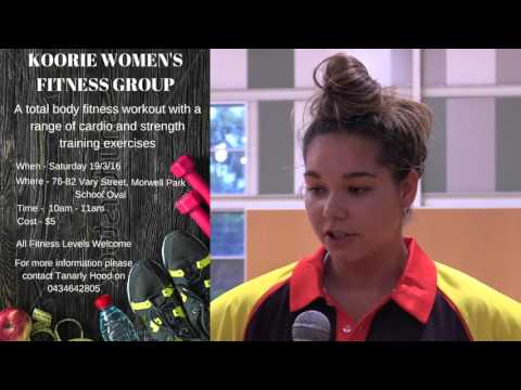 Koorie Women's Fitness Group starts with Tangly Hood