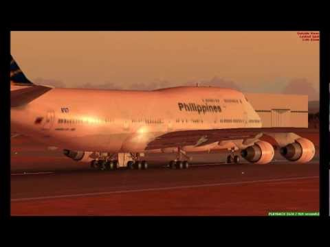 Banjul to Manila via Dubai - British Airways 757-200 and Philippine Airlines 747-800 (FSX)