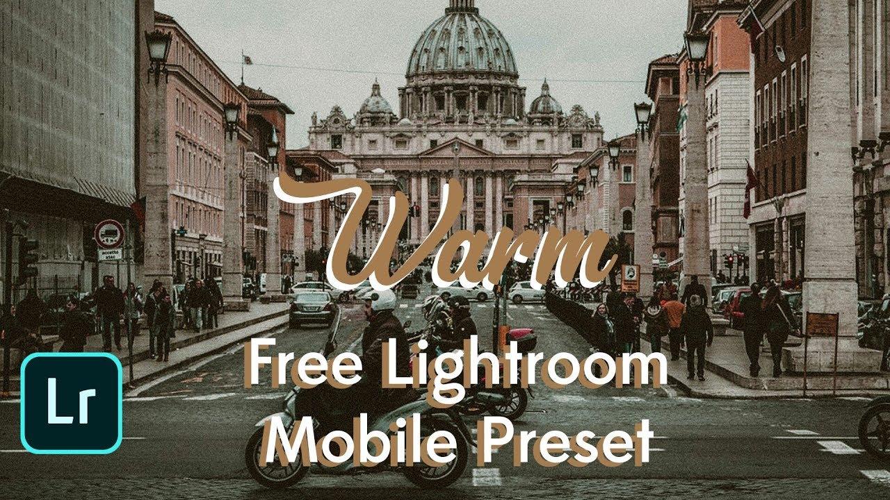 Free Warm preset for Lightroom mobile