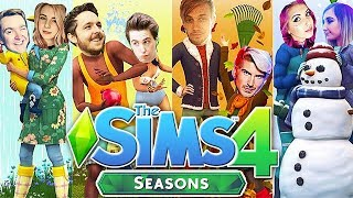 The Sims 4: Raising YouTubers as HOLIDAYS?! (Seasons Expansion Pack)