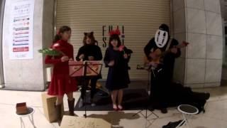 宮城nana民で2015/10/31のハロウィン、 仙台アーケードにてジブリ仮装で...