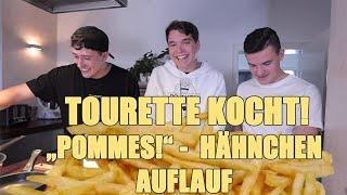 Tourette Kocht - POMMES-Hähnchen Auflauf mit CrispyRob! - Weihnachtsgewitter