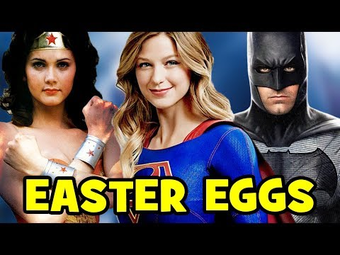 SUPERGIRL: Top 17 Season 2 Easter Eggs - Wonder Woman, Batman, Superman